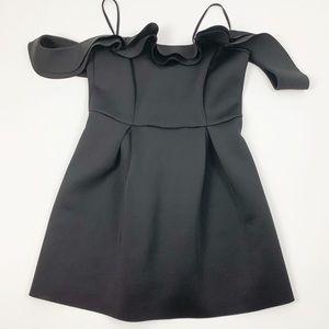 ASOS Black Above Knee Cold Shoulder Mini Dress